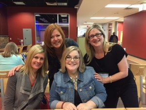 From l to r: Authors Liz Steinke, Liz Fenton, Amy Sue Nathan, and me